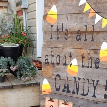 Créez votre déco d'Halloween avec du bois local